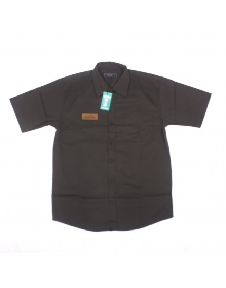 Pure Black Short Sleeve Shirt