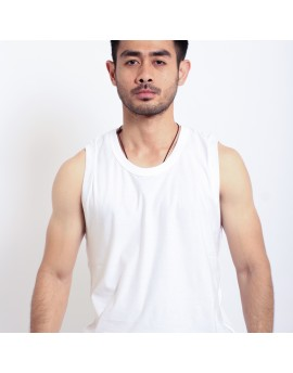 Basic Sleeveless Tee - White