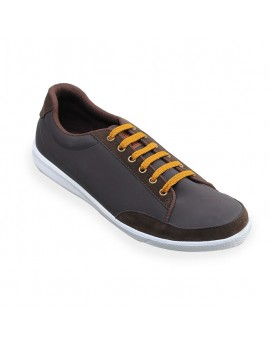 Simma Sneaker Shoes - Coffee Brown