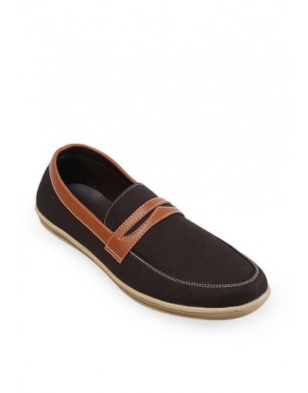 Sepatu Pria Canvas Alpha Loafer Coffee
