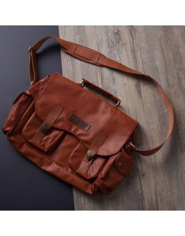 Ostrich Messenger Bag
